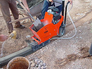 installing a lighted landscape curb